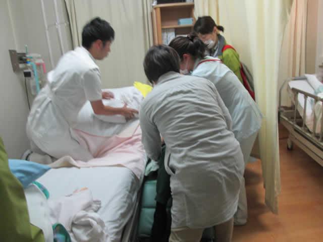 写真:病院から