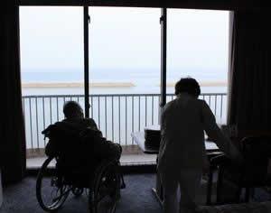 写真:鹿児島湾が広がる