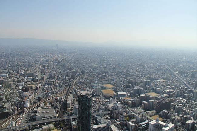 写真:あべのハルカスからの眺め