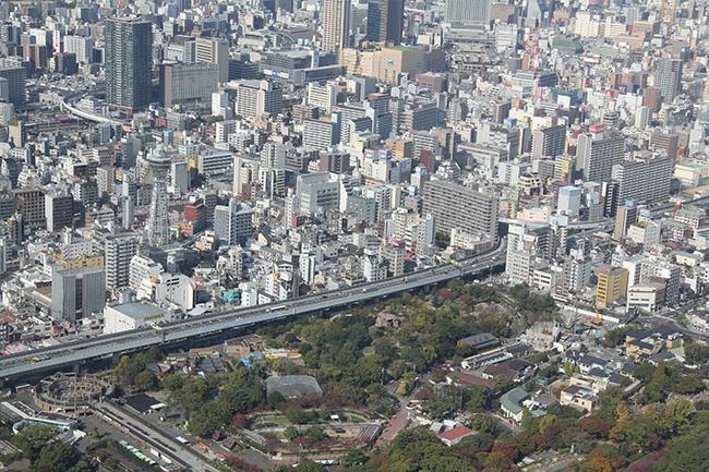 写真:街を見下ろす