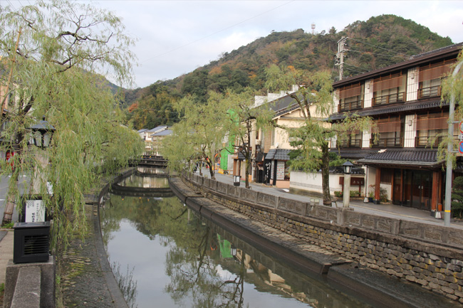 写真:城崎の川沿い