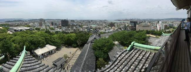 写真:天守閣からの景色