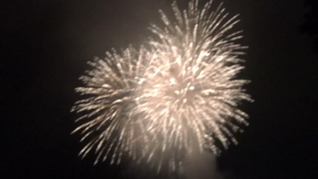 写真:夜空に上がった花火