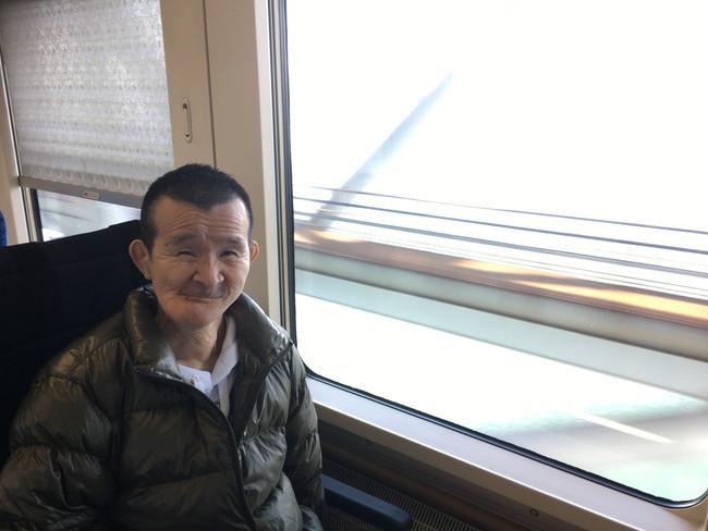 写真:電車内