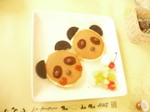 写真:パンダの赤ちゃんのお菓子