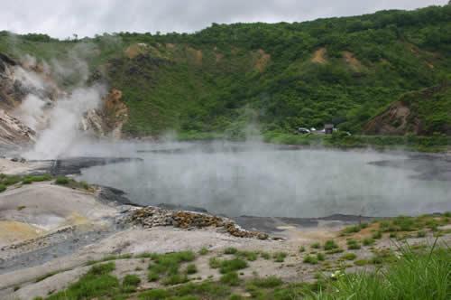 写真:登別温泉の湯気